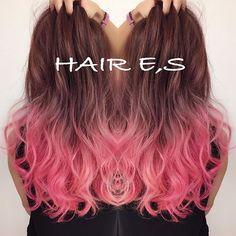 #マニパニ#ブリーチ#ピンク#グラデーション#カラー#美容院#岐阜#イーエスブリーチ後マニパニで仕上げました(≧∇≦)根元はカラーです♪