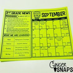 I LOVE calendar template so I took part of it and combined it with our weekly newsletter. I am obsessed with how it turned out. 4th Grade Classroom, Classroom Community, Kindergarten Classroom, Future Classroom, Classroom Ideas, Resultado Loteria, Teacher Organization, Organized Teacher, Organizing