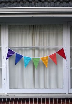 Rainbow Bunting Pennant Flags. $15.00, via Etsy.