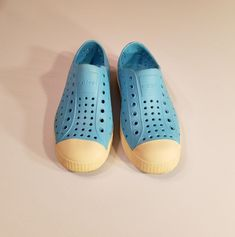 a5933e57c911e Native Jefferson Turquoise Blue Kids Size Boy Girls Slip on Rubber Unisex