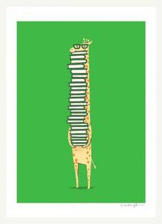 A book lover - illustratie met een knipoog