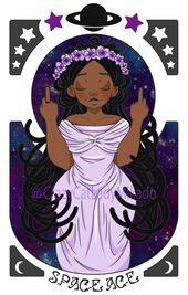 Art Nouveau Space Ace Pride, because we're just out of this world! Available as a print (and more) on my Redbubble shop! Art Nouveau, Ace Pride, Ace Of Hearts, Lesbian, Drawings, Amazing, Artist, Artwork, Saga
