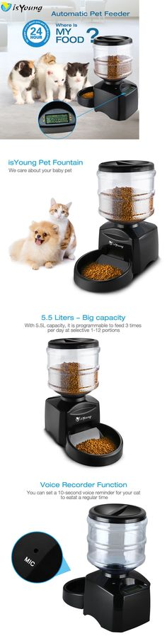 Dishes Feeders and Fountains 177784: 5.5L Automatic Pet Feeder Dog Cat Programmable Animal Food Bowl Auto Dispenser -> BUY IT NOW ONLY: $49.99 on eBay! http://www.kitydevilcat.com/product-category/cat-feeders/food-storage/