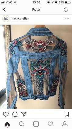 Diy Clothing, Custom Clothes, Denim Fashion, Boho Fashion, Mode Jeans, Denim Outfits, Denim Ideas, Denim Crafts, Denim And Lace