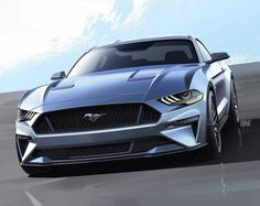 Refreshed #Ford #Mustang sketch by Christopher Stevens #cardesign