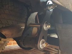 New 2 inch lift rear spring shackles