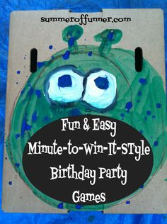 Fun and Easy Minute-to-win-it-style Birthday Party Games ! Kids parties ! minute to win it games ! Kids Birthday Parties !