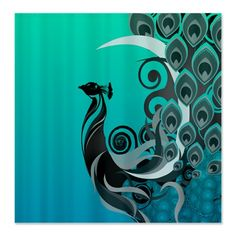 SOLD  #Peacock Shower Curtain $52