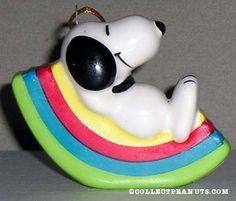 Snoopy Rainbow Ornament