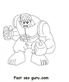 Free Print out #Lego #Superheroes #Hulk Coloring pages for kids. Free online how to draw hulk superhero coloring pages for #preschool