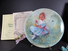 Little Miss Muffet Collectors Plate from the Mother Goose Series by Artist John McClelland Original Packaging Vintage Collectibles by TheStorageChest on Etsy