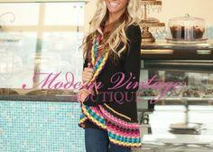 Spring Fling Crochet Sweater Black - Modern Vintage Boutique
