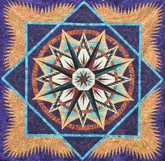 Mariner's Compass, Quiltworx.com, Made by CI Sue Wilson.