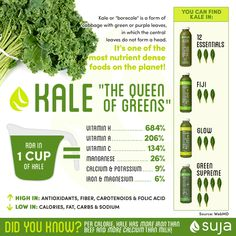 Per calorie, kale has more iron than beef and more calcium than milk! #kale