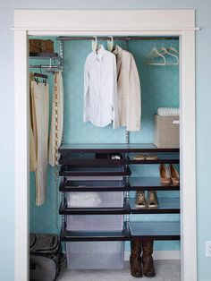Cure Closet Clutter / Step-by-Step DIY Closet Make-Over