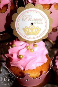 Pink Princess Candy & Dessert Buffet - Baby Shower
