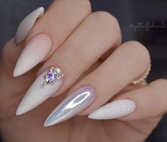 Sexuality Acrylic Stiletto Nails In Summer 2019 - Nail Art Connect # Stilettona . - Sexuality Acrylic Stiletto Nails In Summer 2019 – Nail Art Connect # Stilettonails … – Sexual - Glam Nails, Fancy Nails, Cute Nails, Pretty Nails, My Nails, Almond Acrylic Nails, Best Acrylic Nails, Acrylic Nail Designs, Long Almond Nails