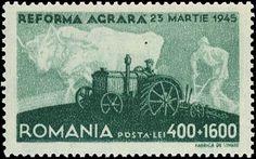 Romania Agricultural Reform semipostal June 3, 1946