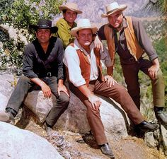 """""""Bonanza"""" ~ One of my favourite shows and THE best western series ever created. Starring Lorne Greene, Michael Landon, Dan Blocker and Pernell Roberts Michael Landon, Lorne Greene, Bonanza Tv Show, Pernell Roberts, American Series, The Lone Ranger, Tv Westerns, Old Shows, Great Tv Shows"""