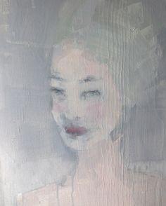 """Reminiscence"", acrylic on wood panel, 40x50cm, by Jorunn Mulen"