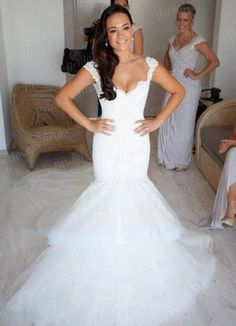 Free Shipping Amazing Fishtail Sweetheart Neckline Low Back Sweep Train Mermaid Tulle Skirt Wedding Gowns With Appliques JK477 | http://chateaulumiere.com/products/free-shipping-amazing-fishtail-sweetheart-neckline-low-back-sweep-train-mermaid-tulle-skirt-wedding-gowns-with-appliques-jk477/ | US $239.00 - Free Shipping | Chateau Lumiere #wedding #weddinginspiration #weddinggown #weddingideas #bridal #bride #bridalfashion #weddingfashion #love #fashion #weddingstyle #weddinginspo…