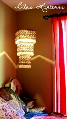 Nuetral Tan beige Lace Hanging Light Shade by BilasLanterns, $150.00