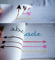"""DIY Arrow Baby Blanket 
