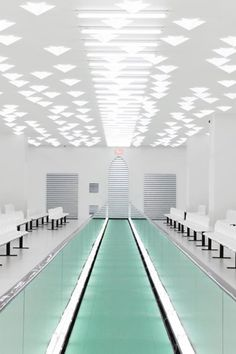 To set the stage of his Gucci Spring Summer 2020 runway show, creative director Alessandro Michele muffled maximalism and cited Tom Ford, Miuccia Prada, and the Stage Design, Set Design, Fondation Prada, Longchamp, Philip Lim, Villa Eugenie, Palazzo, Milan Restaurants, Moving Walkway