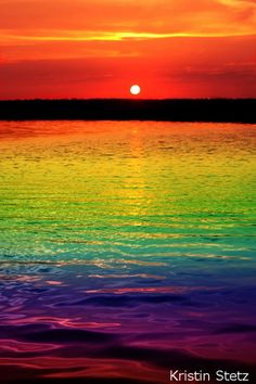 .visions of mystical colors all across the water. Exotic colors and sensational luring rainbow magic.