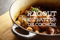 French Ragout Recipe, Xmas Food, French Food, Pork Recipes, Yummy Recipes, Main Dishes, Food And Drink, Appetizers, Yummy Food