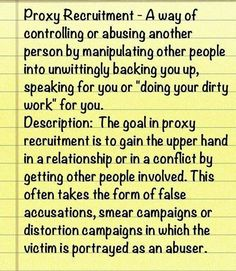Abuse by proxy.  A recovery from narcissistic sociopath relationship abuse.