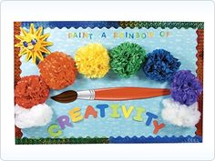 Decorate classroom bulletin boards with these bulletin board ideas. Find fun ways to use bulletin board borders and discover new bulletin board themes. Rainbow Bulletin Boards, Elementary Bulletin Boards, Bulletin Board Borders, Classroom Bulletin Boards, Classroom Themes, Classroom Decor, Classroom Organisation, Classroom Supplies, Future Classroom