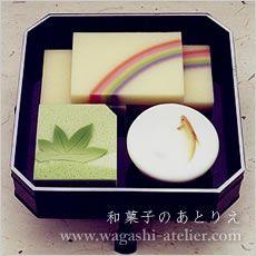 和菓子のあとりえ      引菓子 : 雨上がり (