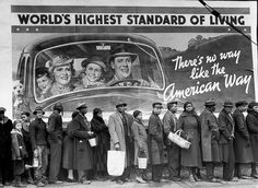 Margaret Bourke-White - Relief line following the Louisville Flood, 1937