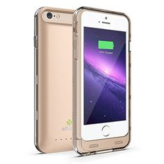 "iPhone 6 Battery Case [Champagne Gold] Säkra (4.7"") ✓ MFi Apple Certified ✓ Doubles Battery Life of Your iPhone 6 ✓ Impact Protection from Drops & Falls ✓ Rapid Charging Case w/ 3100mAh Capacity Säkra http://www.amazon.com/dp/B00QCC5U7S/ref=cm_sw_r_pi_dp_pGsOvb1BDK2P2"