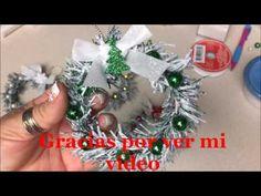 Manualidades Navideña de Coronita para el arbol de Navidad. - YouTube
