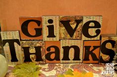 Thanksgiving decoration using scrap wood and paper
