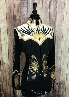 Gently used, one-of-a-kind hand-painted fringe jacket by Connie's Customs Ladies…