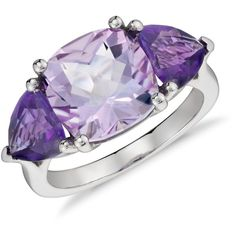 Blue Nile Rose de France and Amethyst Ring ($595) ❤ liked on Polyvore featuring jewelry, rings, accessories, 14 karat gold ring, 3 stone ring, three stone ring, 14 karat gold jewelry and amethyst rings