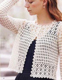 Beautiful crochet jacket, 3/0 hook