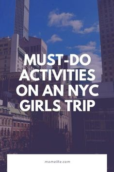 Going to New York City is a fantastic choice for a girls' trip with some of your friends or relatives. Try out these must-do activities. Us Travel Destinations, Beautiful Places To Travel, Cool Places To Visit, New York Travel, Travel Usa, Travel With Kids, Family Travel, Best Places To Vacation, Thailand Travel Tips