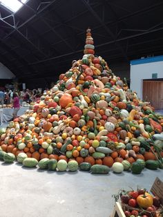 A mountain of squash! #heirloomexpo12