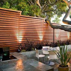 Modern Wood Fence, Wood Fence Design, Modern Fence Design, Privacy Fence Designs, Back Garden Design, Patio Design, Backyard Fences, Backyard Landscaping, Modern Backyard