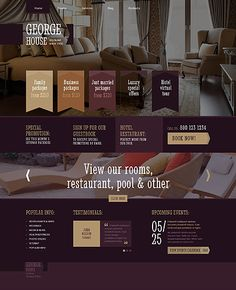 Template 48707 - Hotel Responsive WordPress Theme