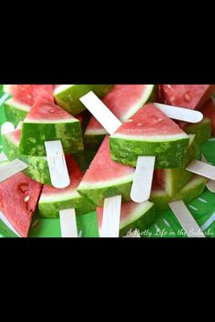 Awesome idea for a kids party, way to make fruit cool!