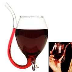 Check out our 300ml Wine Glass with Built in Drinking Tube Straw at Kook Store, only £6.99! Check out the full range of kooky accessories & apparel at http://www.kookstore.co.uk   #funky #kooky #apparel #accessories #alternative #punk #fashion #odd #kitchen #homeware #gifts #giftideas