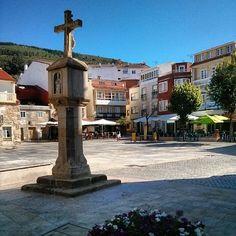 Praza de España en Porto do Son, Galicia