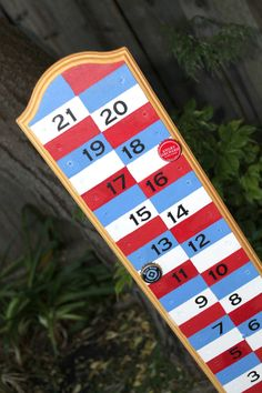 Magnetic Backyard Scoreboard for Bocce Ball, Corn Hole, Ladder Golf, etc
