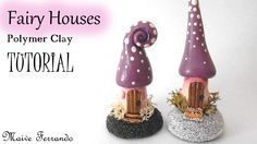 Today's tutorial is probably one of my favourite ones since it's about fairies and fantasy! I will show you how I made these cute mini fairy houses with a sl...