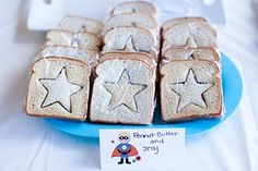 superhero party sandwiches